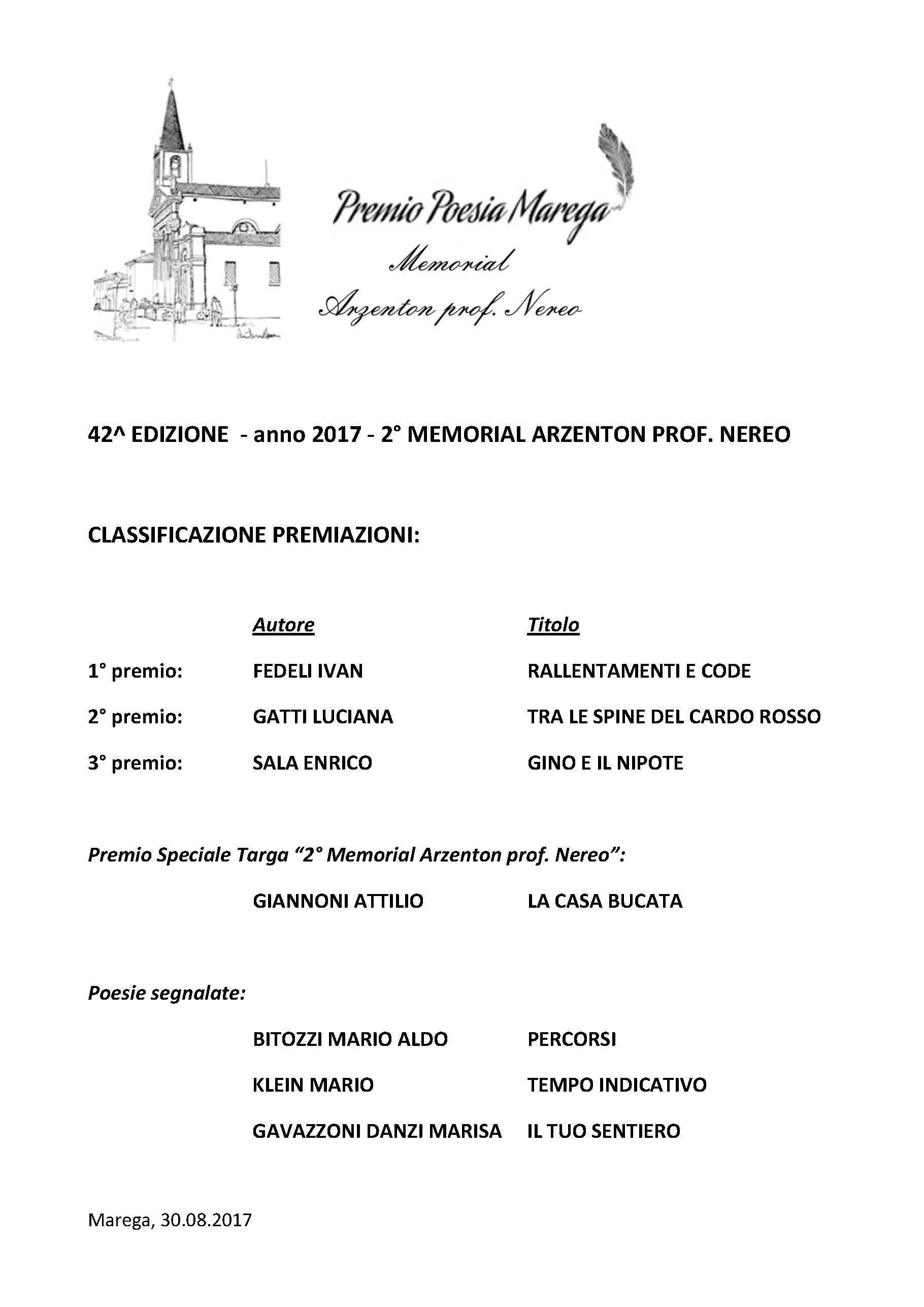 opere premiate 2017